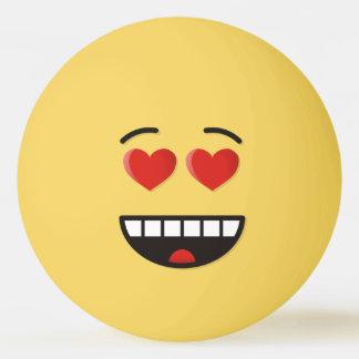 Bola Para Tênis De Mesa Cara de sorriso com olhos Coração-Dados forma