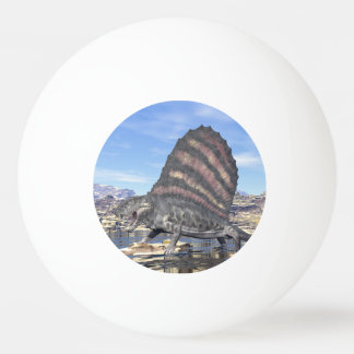 Bola Para Tênis De Mesa Dimetrodon no deserto - 3D rendem