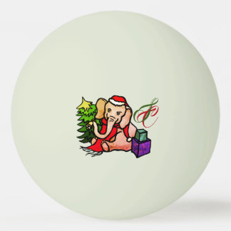 Bola Para Tênis De Mesa Elefante de incandescência do papai noel do Natal