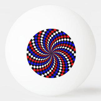 Bola Para Tênis De Mesa Espiral azul branca vermelha do verificador
