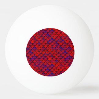 Bola Para Tênis De Mesa Falln escalas vermelhas e do roxo