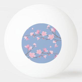 Bola Para Tênis De Mesa Flor de cerejeira - azul da serenidade