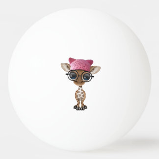 Bola Para Tênis De Mesa Girafa bonito do bebê que veste o chapéu do