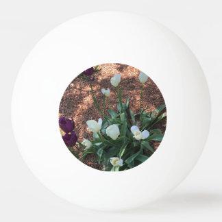Bola Para Tênis De Mesa Jardim das flores brancas da tulipa da neve