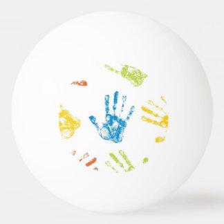 Bola Para Tênis De Mesa Miúdos Handprints na pintura
