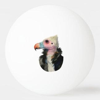 Bola Para Tênis De Mesa Pintura Branco-Dirigida da aguarela do abutre