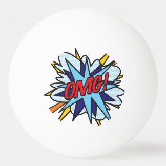 Bola Para Tênis De Mesa Pop art OMG da banda desenhada