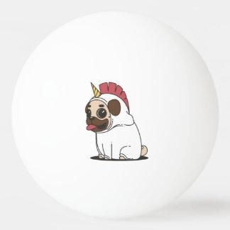 Bola Para Tênis De Mesa Pug de sorriso dos desenhos animados em um traje