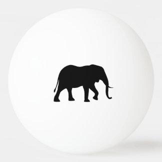 Bola Para Tênis De Mesa Silhueta do elefante africano