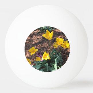 Bola Para Tênis De Mesa tipo colorido amarelo flores da tulipa no