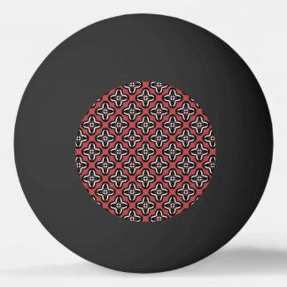 Bola Para Tênis De Mesa Vermelho branco preto todo abaixo
