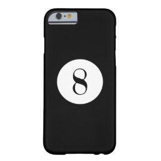 Bola preta do número 8 da bola de piscina capa barely there para iPhone 6