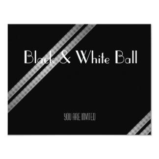 Bola preto e branco convite personalizado
