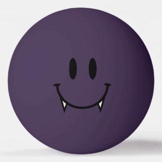 Bola roxa de Pong do sibilo do smiley do vampiro