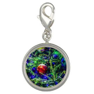 Bola verde do vermelho da árvore de Natal Photo Charms