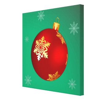 Bola vermelha do Natal Impressão De Canvas Envolvidas