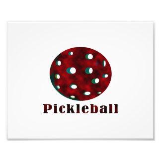 bola vermelha nublada pickleball .png do texto n impressão de foto