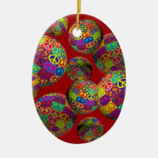 Bolas customizáveis da paz do pop ornamentos