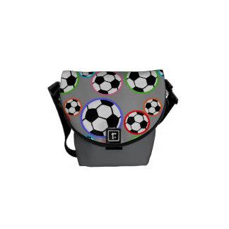 Bolas de futebol bolsa mensageiro