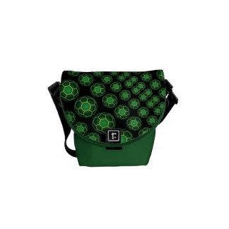 Bolas de futebol verdes bolsas mensageiro