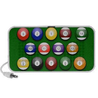 Bolas de piscina numerada coloridas no auto-falant caixinha de som para iPhone