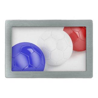 Bolas do futebol com a bandeira de France