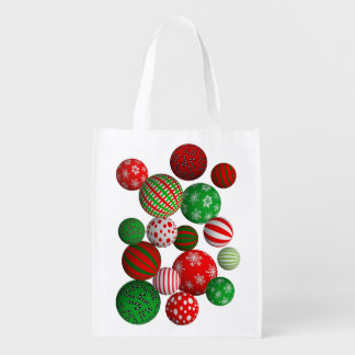 bolas do Natal 3D Sacolas Ecológicas