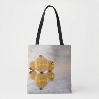 Bolas douradas do Natal - 3D rendem Bolsas Tote