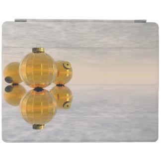 Bolas douradas do Natal - 3D rendem Capa Smart Para iPad