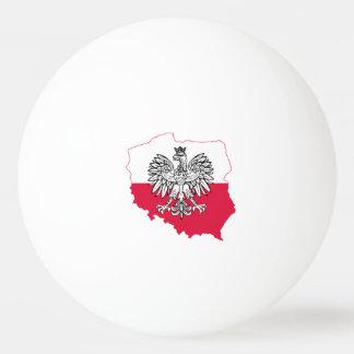 Bolas polonesas de Pong do sibilo da bandeira do