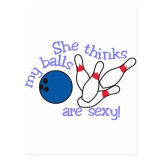 """Bolas """"sexy"""" cartão postal"""