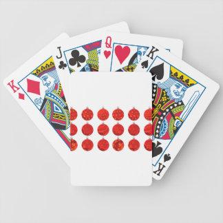 Bolas vermelhas do Natal no roupa e nos presentes Baralhos De Pôquer