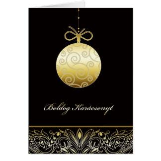 boldog Karácsonyt, Feliz Natal no Hungarian Cartão Comemorativo