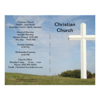 Boletim da igreja customizável flyer 21.59 x 27.94cm