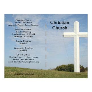Boletim da igreja customizável panfletos personalizado
