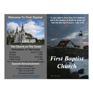 Boletim semanal customizável da igreja (fora somen papel de carta