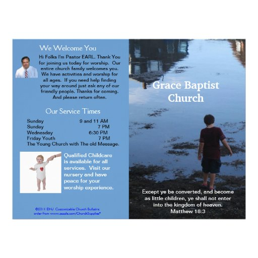 Boletim semanal customizável da igreja (fora somen papéis de carta personalizados