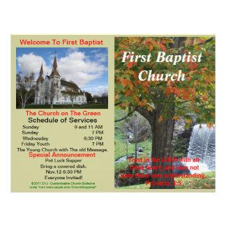 Boletim semanal customizável da igreja (fora somen papeis de carta personalizados