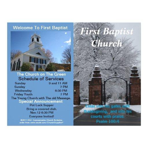 Boletim semanal customizável da igreja (fora somen modelos de papel de carta