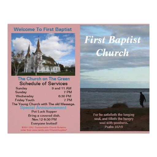Boletim semanal customizável da igreja (fora somen modelo de papel de carta