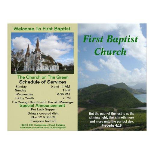 Boletim semanal customizável da igreja (fora somen papel de carta personalizados