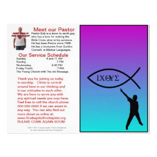 Boletim semanal customizável da igreja (vazio do i papel de carta