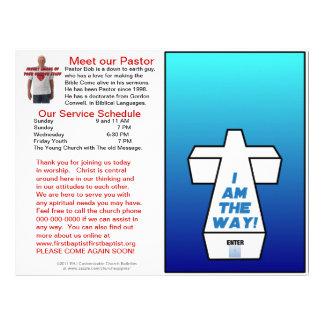 Boletim semanal customizável da igreja (vazio do i modelo de papel de carta