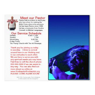 Boletim semanal customizável da igreja (vazio do i modelos de papel de carta