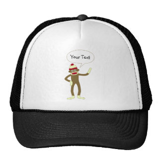 Bolha cómica customizável do discurso do macaco da boné