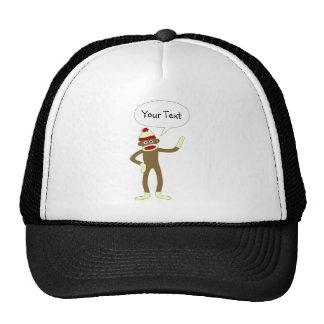 Bolha cómica customizável do discurso do macaco da bonés