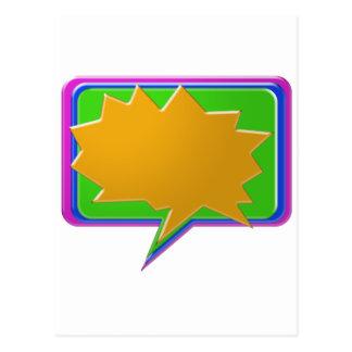 Bolha da CONVERSA: Adicione o texto ou o modelo Cartão Postal