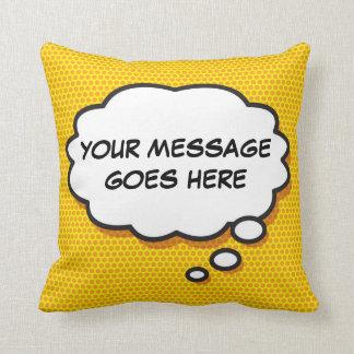 Bolha personalizada do pensamento da banda travesseiros de decoração