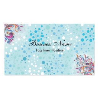 Bolhas azuis e brancas bonitos cartão de visita