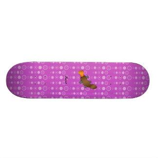 Bolhas conhecidas personalizadas do roxo do platyp shape de skate 18,4cm